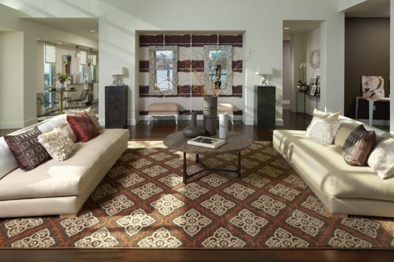 Area Rug On Carpet Living Room Intended Style Spotlight Karastan Carmel Area Rug Harms Carpet One